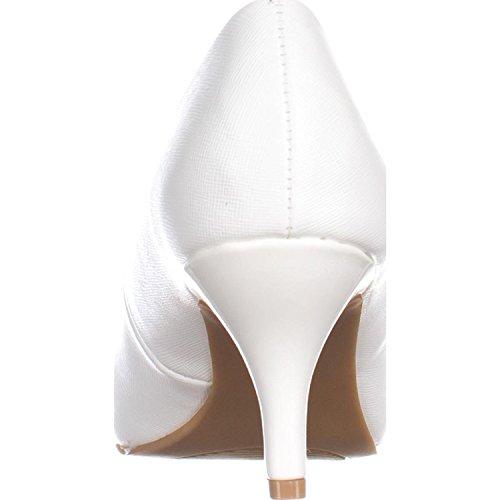 Karen Scott Womens Peep Toe Classic Pumps Bianco