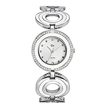 GO, Girl Only Glamour Analogue White Dial Women's Watch - 694967