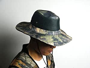 Fishing Hat Vintage Camouflage Hunting Hat Fishing Wide Edge Boonie Hat hiking cap Camouflage bucket hat tactics