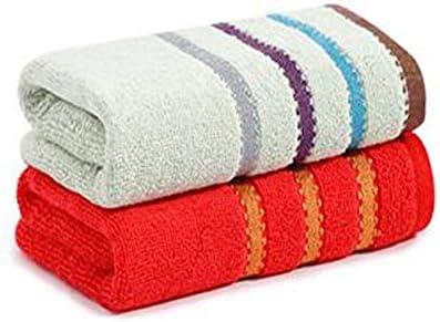 CQIANG タオル、綿タオル、強力吸収タオル、ピンク/グリーンマルチカラーオプション72 * 33 Cm (Color : Multi-colored, Design : F)