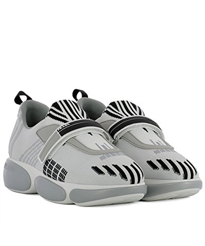 Bianco On Prada Tessuto Donna Grigio Slip Sneakers 1E651IF0401QCMF0K74 vTTwgYq