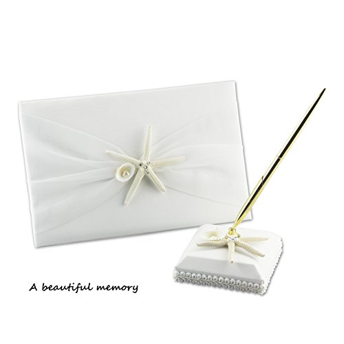 Wedding Guest Book and Pen set, Suitable For Weddings &Festive Party, Special Occasions, the best memorial gift. (1)