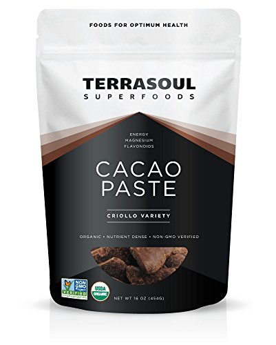 Cacao Paste - Terrasoul Superfoods Raw Organic Cacao Paste/Liquor, 1 Pound