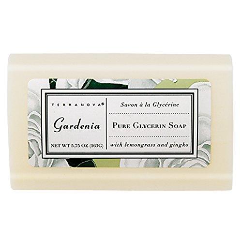 Scented Soap Bar Glycerin (TerraNova Gardenia 5.75 oz Pure Glycerin Soap)