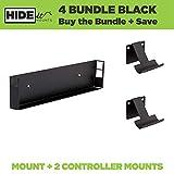 HIDEit Mounts 4 Original PS4 Mount, Black Steel PS4