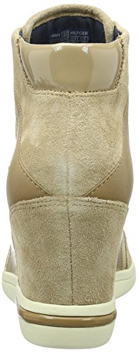 Tommy Hilfiger S1285ebille Low 24c, Zapatillas Altas para Mujer Beige (Sand 102)