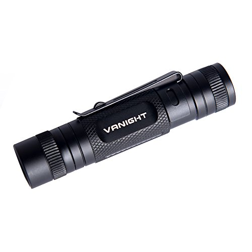 VANIGHT Tactical Pocket LED Flashlight CREE XPE-R3 EDC Torch Light Powered By 1* AA Battery (Without 1* AA Battery)