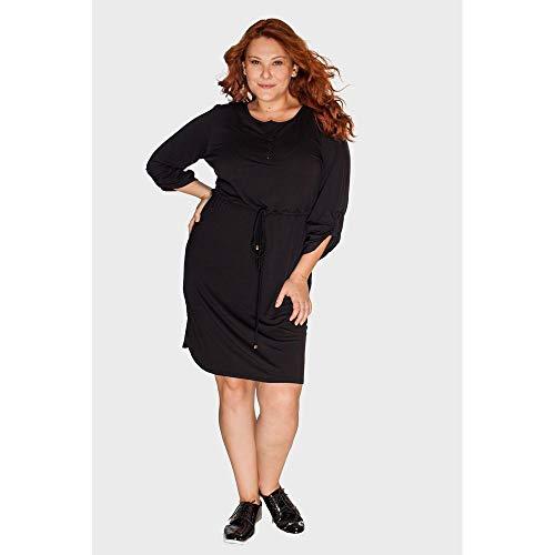 Vestido Moletinho Plus Size Preto-52