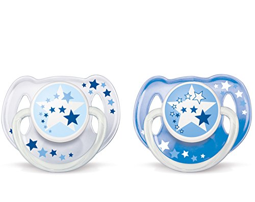 Philips AVENT BPA Free Night Time Pacifier, 6-18 Months, 2 Count Pack ()