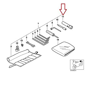 Amazon Com Bmw Genuine Car Tool Spark Plug Wrench R1100gs R1100r