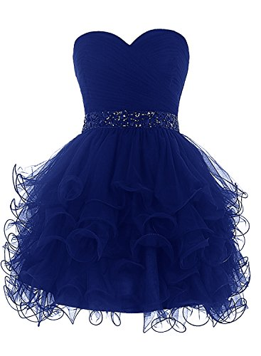 Bbonlinedress Mini Princess Strapless Homecoming Cocktail Party Dress Royal Blue 14 ()