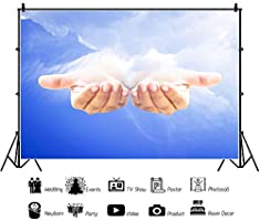 OERJU 12x10ft Holy Light Backdrop Jesus Christ Baptism Background for Photography Bible Story Performance Banner Church Fellowship Area Wallpaper School Photo Church Event Shoots Church Decor