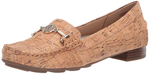 Anne Klein Women's HULIA Casual Loafer Natural, 9.5 M US