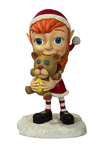 Queens of Christmas WL-ELF-Girl Decorative Elf Family Daughter Figurine -
