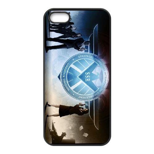 Agents Of S.H.I.E.L.D 003 coque iPhone 5 5S cellulaire cas coque de téléphone cas téléphone cellulaire noir couvercle EOKXLLNCD21426