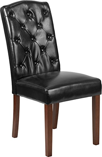 Olympus Somerset Series Tufted Parsons Chair Executive Reception Guest Office Chair Upholstered with Arms
