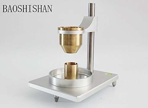 BAOSHISHAN JHY-1002 Flow Ability Tester Bulk Density Tester for Powder Natural Accumulation Density Meter Hall Flow Meter (with a stainless steel funnel) by BAOSHISHAN