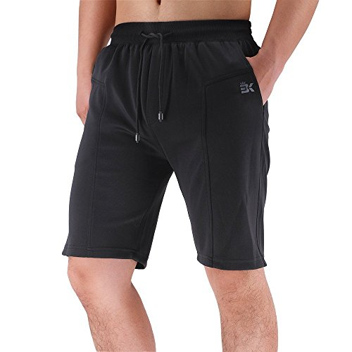 BROKIG Men's Gym Shorts Athletic Workout Running Shorts with Pockets (XL, Classic -