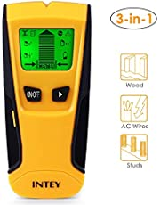 INTEY Stud Detector with 3 in 1 Scanning Mode for Metal, AC Wire and Stud Scan Mode, LCD Backlight Screen and Center Finding Metal Stud