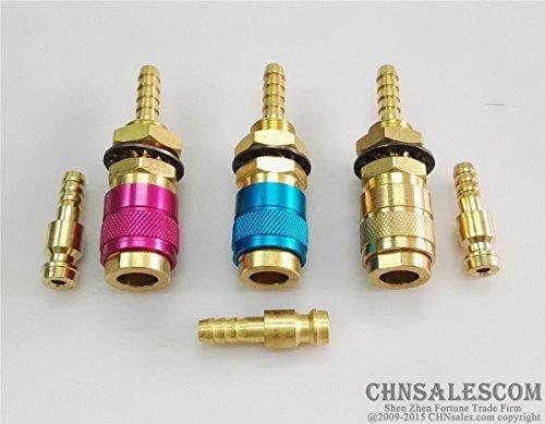 CHNsalescom 3セットガス&水MIG TIG溶接機のクイックコネクタトーチレッド+ブルー+銅  B073TYRJ5V