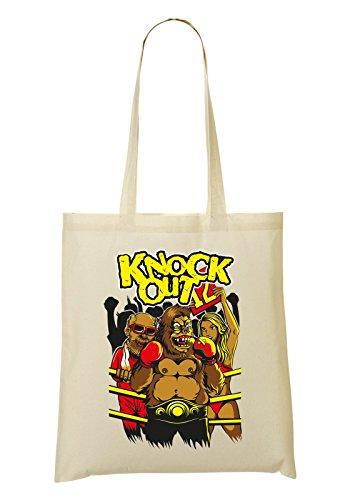 Knock Out Monkey Winner 12 Bolso De Mano Bolsa De La Compra