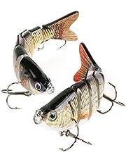 Scotamalone Fishing Bass Lures Topwater Lifelike Multi Jointed Artificial Swimbait Hard Fishing Bait Fishing Hooks