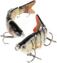 Scotamalone Fishing Bass Lures Topwater Lifelike Multi Jointed Artificial Swimbait Hard Fishing Bait Fishing H
