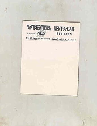 Amazon Com 1970 S 1980 S Ford Vista Rent A Car Woodland Hills Ca