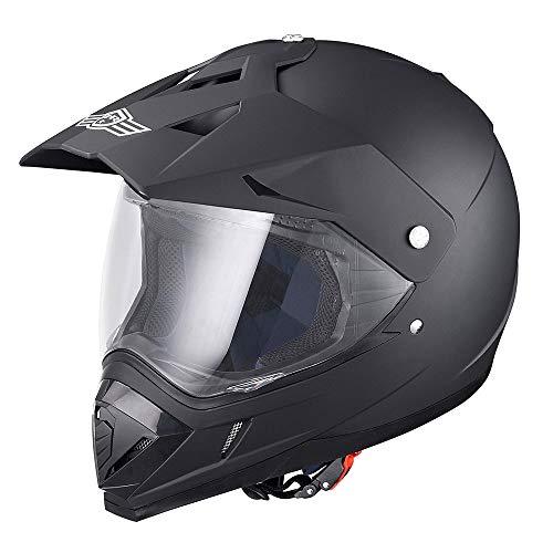 AHR DOT Full Face Motorcycle Helmet Dirt Bike Motocross PC