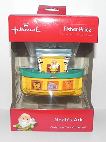 2018 Hallmark Fisher Price Little People Noah's Ark Christmas Ornament (Ark Noahs Hanging)