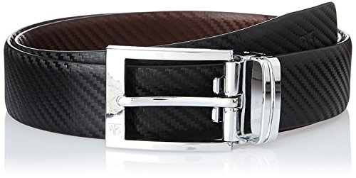 Belt Titan TB165LM1R2L Leather Men's Formal Black Brown Reversible and TxwTqCr0