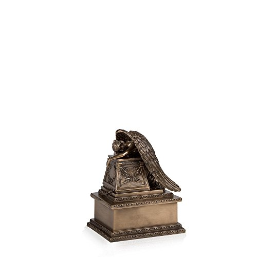 Perfect Memorials Bronze Finish Weeping Angel Cremation Urn Small - Bronze Small Urn