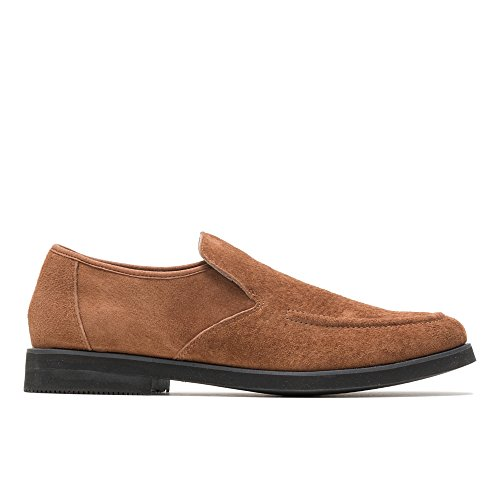 (Hush Puppies Bracco MT Slip-On Men 9 Cinnamon Suede)