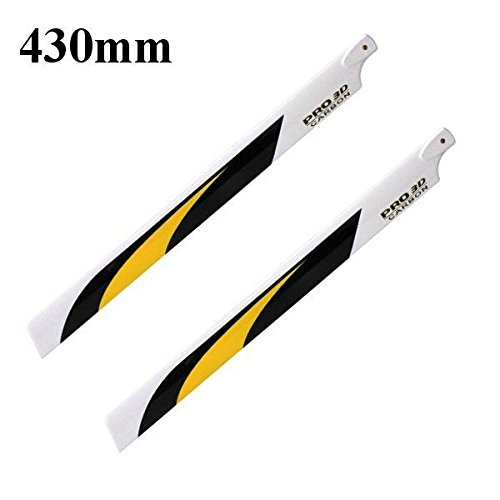 HITSAN Dynam 430mm Carbon Fiber Main Blade for Electric 500 Helicopter Pro. 4301 One Piece (Carbon Fiber 430 Mm)