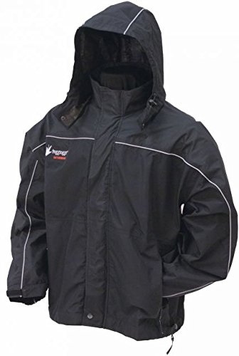 Frogg Toggs - Toadz Highway Rain Jacket, Polyester, Waterproof , BLACK, 2XL (Frogg Toggs Motorcycle Rain Gear compare prices)