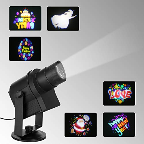 Blinblin DIY LED Projector, Waterproof Landscape Spotlight with 6 Slides for Christmas Halloween Party and Other Holiday Outdoor and Indoor Decoration (DIY LED Projector) ()