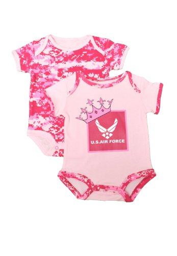 2-pk-us-air-force-pink-camo-baby-outfits-princess-crown-cute-6-9-mo