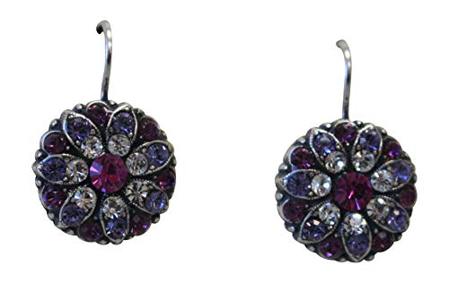 Mariana Purple Fuchsia Swarovski Crystal Flower Earrings 300 ()