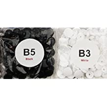 200 Sets White & Black - Size 20 (1/2) - KAM Plastic/Resin Snaps/Snap for Diapers/Bibs/Cloth/PUL