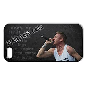 Hip hop duo Macklemore & Ryan Lewis Personalized iPhone 5,5S Hard Plastic Shell Case Cover White&Black(HD image)