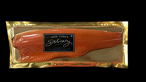 (2.4 Lb. New York's Delicacy, Most Awarded, Pre-Sliced, Smoked Salmon Nova, Fully Trimmed, Skin-Off (1 Fillet))