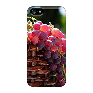 Fashion QqJ529FQIi Cases Covers For HTC One M7(grape Basket)