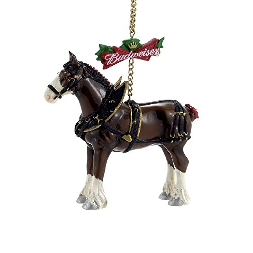 Bundle Pack of 12, Kurt Adler Budweiser Clydesdale Horse Ornament