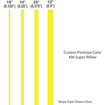 Amazoncom Wide Premium Pinstripes VERY YELLOW Outdoor - Vinyl stripes for motorcycles