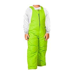 Arctix Toddler Chest High Snow Bib Overalls, 4T, Lime Green