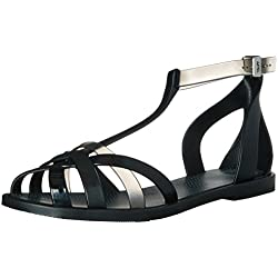 Zaxy Women's Frozen Jelly Sandal, Black, 5 M US