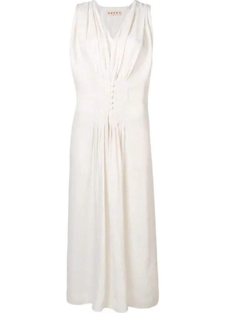 Marni Women's ABMA0170Q0TV670Y5378 White Viscose Dress