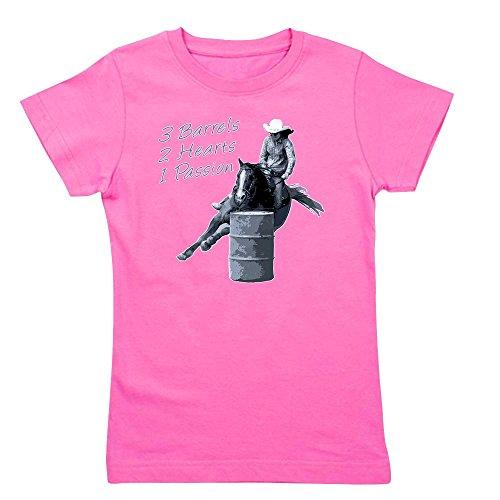 CafePress - Barrel Racing Horse Black - Girl's Cotton T-Shirt, Cute Slim Fit Girl's Shirt