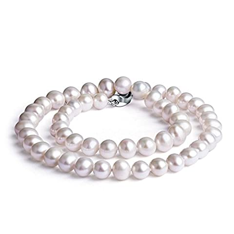 Nonnyl Classic Round White Freshwater Cultured Pearl Necklace 18