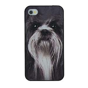 WQQ patrón de perro collie pc caso duro para el iphone 4 / 4s